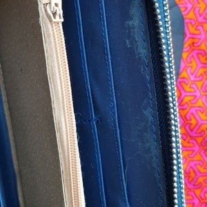 Tory Burch Bags - Tory Burch Blue Double Zipper Wallet